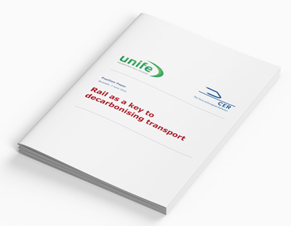 Position Paper: Rail as a key to decarbonising transport