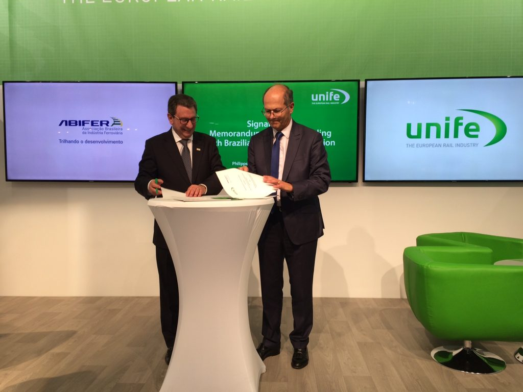 UNIFE SIGNS MOU WITH THE BRAZILIAN ASSOCIATION OF THE RAILROAD SUPPLIERS (ABIFER)