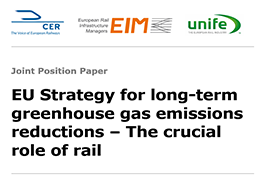 The crucial role of rail in the decarbonisation plans of the EU