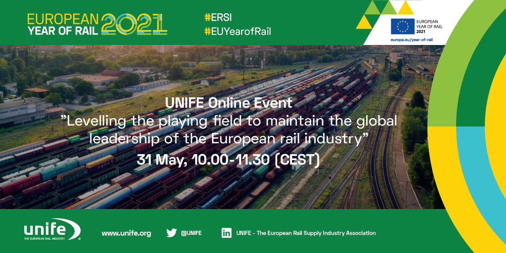Levelling the playing field to maintain the global leadership of the European Rail Industry