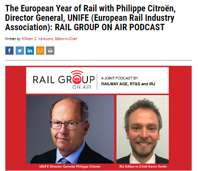 The European Year of Rail with Philippe Citroën, Director General, UNIFE (European Rail Industry Association)