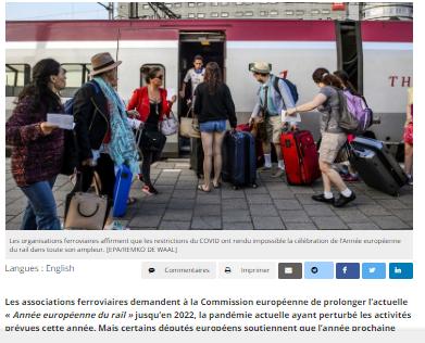 En 2022, « année européenne » du rail ou de l'aviation ? Associations et eurodéputés s'affrontent (Euroactive)