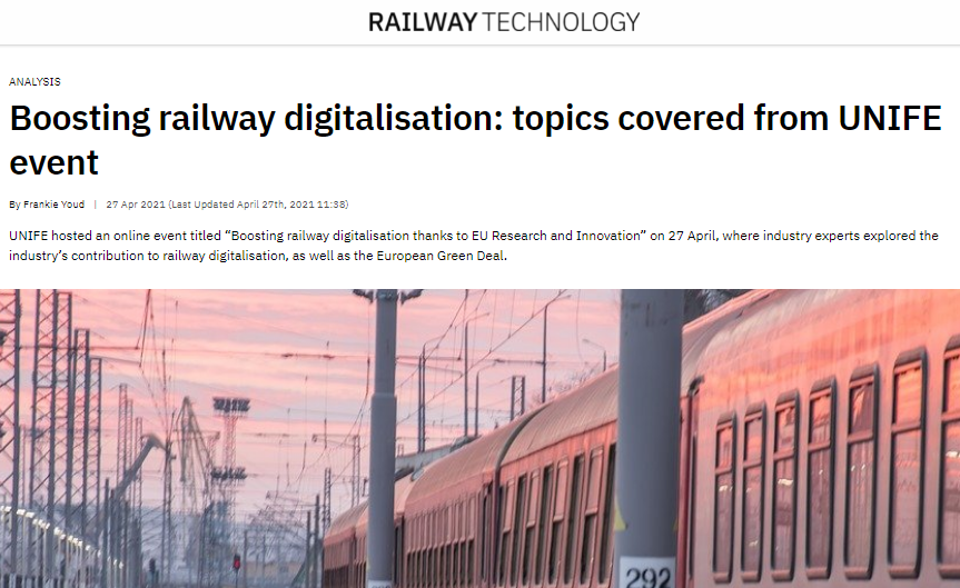 Boosting railway digitalisation: topics covered from UNIFE event (Railway-technology)