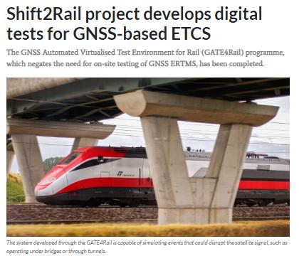 Shift2Rail project develops digital tests for GNSS-based ETCS (IRJ)