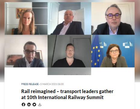 Rail reimagined – transport leaders gather at 10th International Railway Summit
