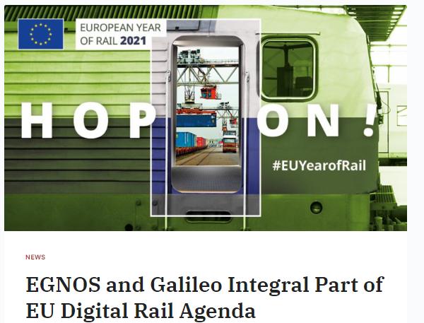 EGNOS and Galileo Integral Part of EU Digital Rail Agenda (Gim-international)