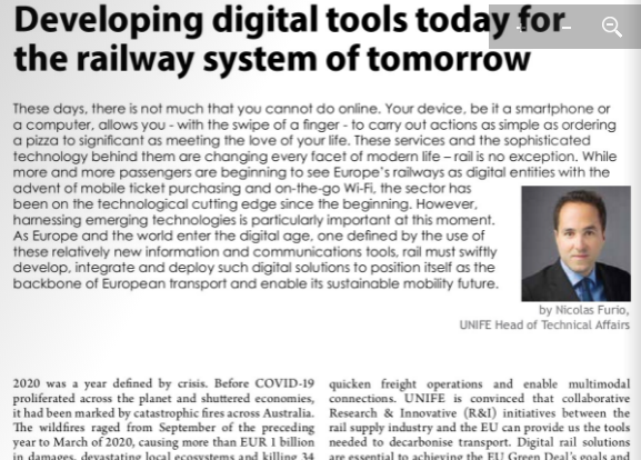 Developing digital tools today for the railway system of tomorrow (Railway Pro)